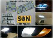 Modulos salon led(modulo led, para salon de camiones 24v)