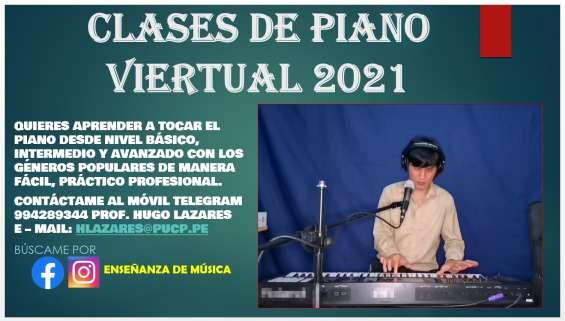 Clases de piano virtual