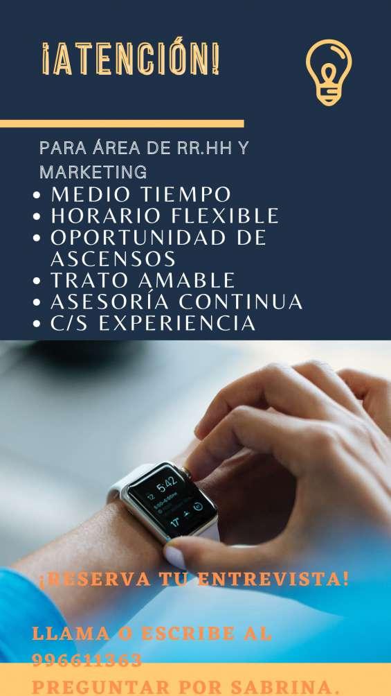 Encargado de marketing/encargada de marketing