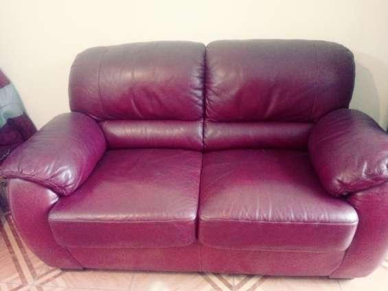 Vendo sofá en cuero